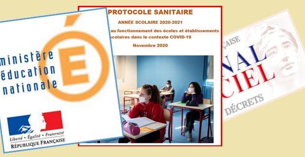 (31/05/2021) Des mesures applicables pour la fin de l'année scolaire dans les établissements